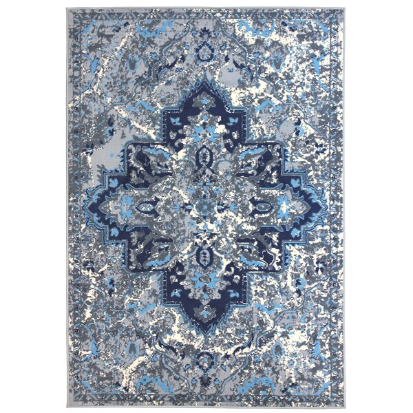 Bowden Blue/Gray Area Rug by Bungalow Rose