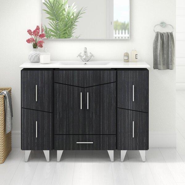 Kapp Modern Floor Mount 48 Single Bathroom Vanity Set by Royal Purple Bath Kitchen