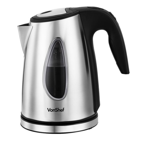 1.5-qt. Stainless Steel Cordless Tea Kettle by VonShef