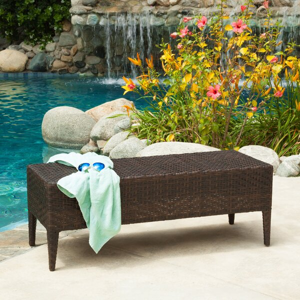 Quintero Wicker Garden Bench by Wrought Studio