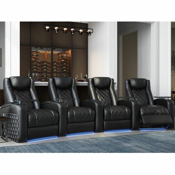 Azure HR Series Curved Home Theater Recliner (Row Of 4) By Red Barrel Studio