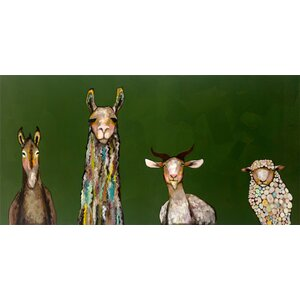 'Donkey, Llama, Goat, Sheep' Graphic Art Print by Harriet Bee