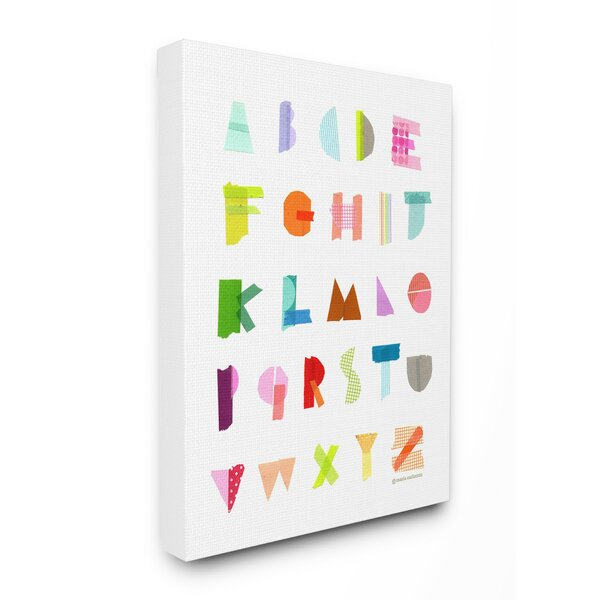 Feeney Alphabet Paper Collage Canvas Art by Harriet Bee