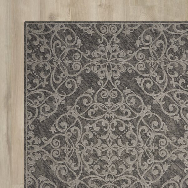 Portleven Gray Area Rug by Charlton Home
