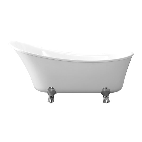 Pearl 69 x 29 Claw Foot Soaking Bathtub by Cahaba