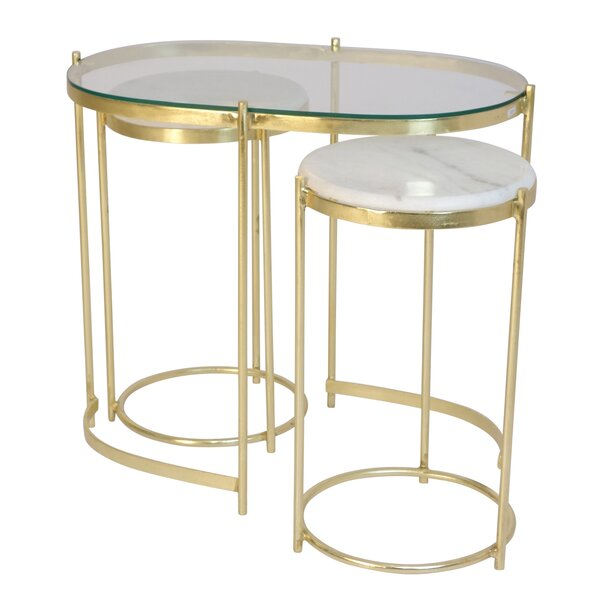 Foye 3 Piece Nesting Tables By Everly Quinn