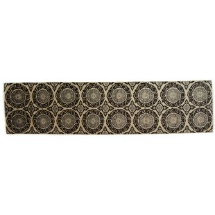 Coupon One-of-a-Kind Eclectic Hand-Knotted Black Area Rug ByDarya Rugs