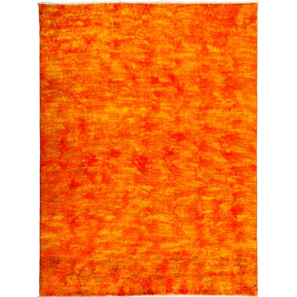 One-of-a-Kind Vibrance Hand-Knotted Orange Area Rug by Darya Rugs