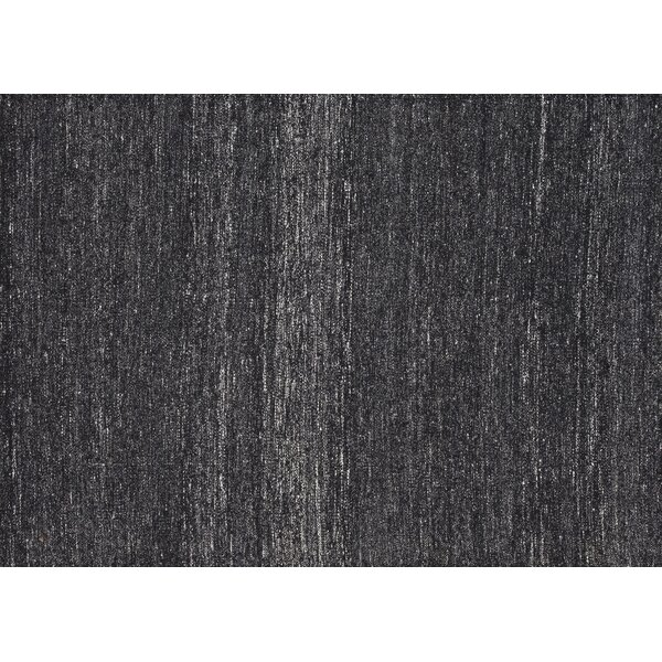 Berchmans Hand-Woven Black/Gray Area Rug by Foundry Select