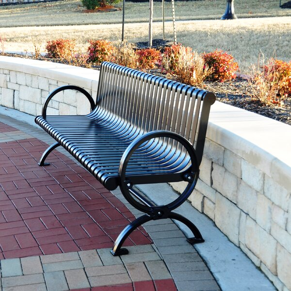 Wellington Steel Park Bench by Frog Furnishings