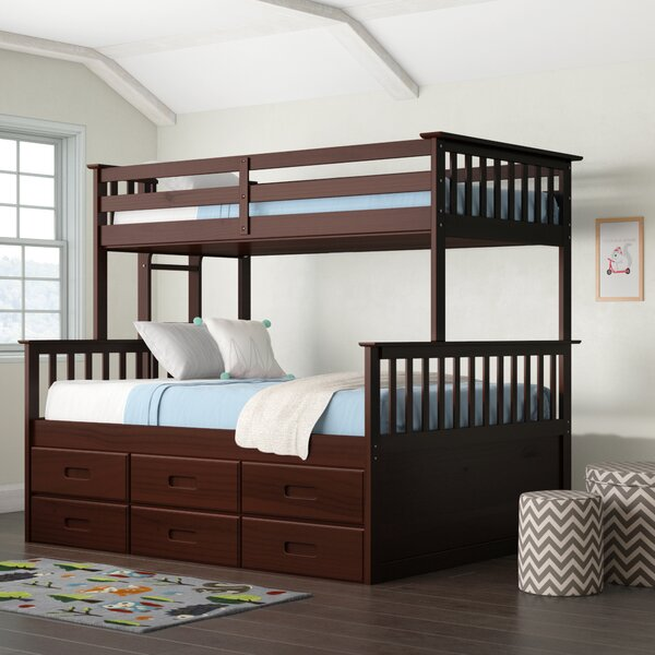 Sandra Bunk Bed with Trundle by Viv + Rae