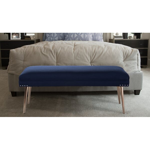 Somer Upholstered Bench by Everly Quinn