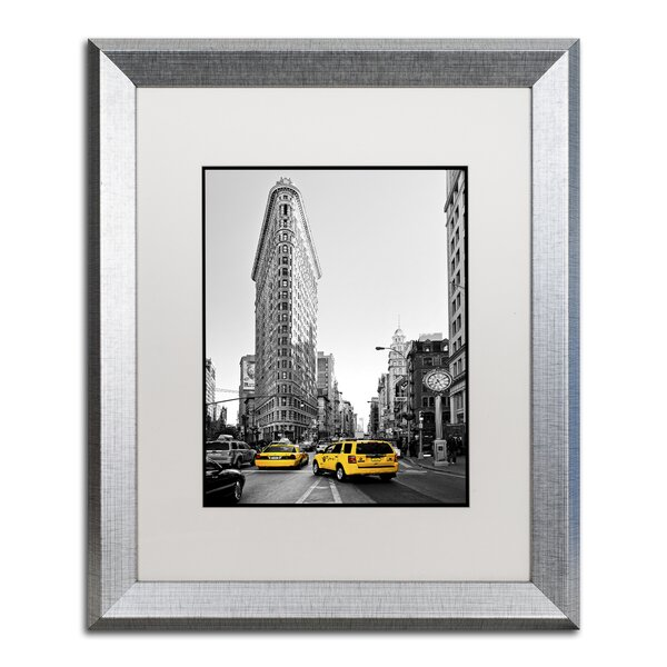 Flatiron Building NYC by Philippe Hugonnard Framed Photographic Print by Trademark Fine Art