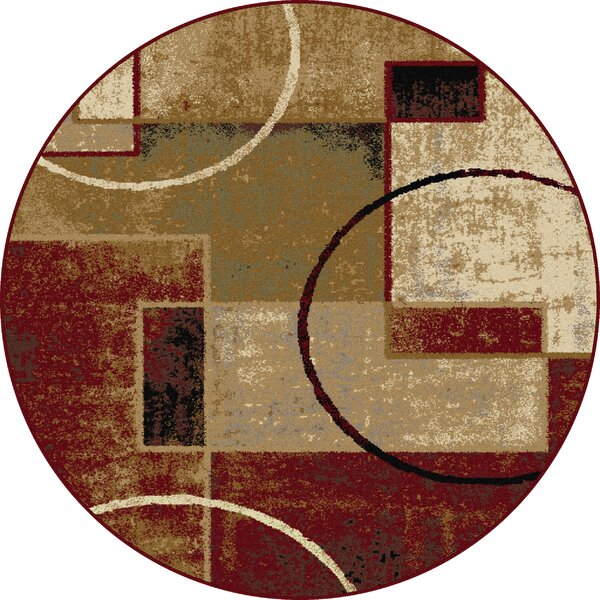 Hartle Red/Ivory Area Rug by Ebern Designs