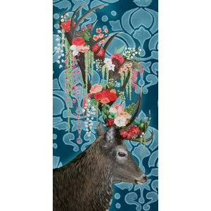 'Bouquet For My Deer' Photographic Print on Wrapped Canvas by Ebern Designs