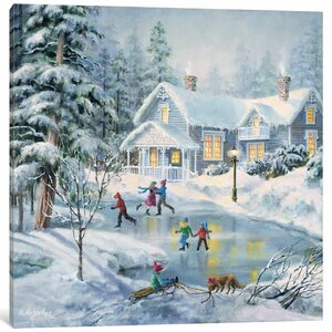 'A Fine Winter's Eve' Painting Print on Canvas by East Urban Home