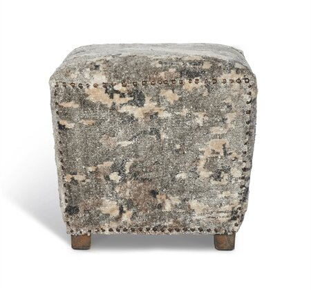 Delaney Square Accent Stool by Interlude