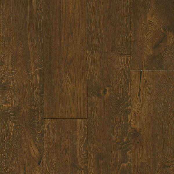 7-1/2 Engineered Oak Hardwood Flooring in Deep Etched Hampton Brown by Armstrong Flooring