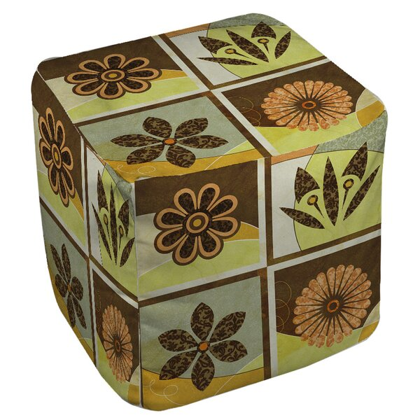 Graphic Garden Sydney Pouf by Manual Woodworkers & Weavers