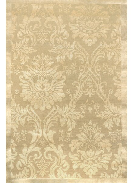 Osteen Antique Damask Hand-Knotted Ivory Area Rug by One Allium Way