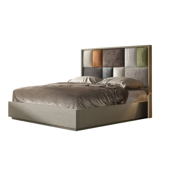 London King Upholstered Platform Bed by Hispania Home