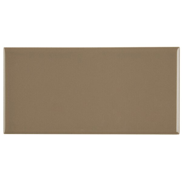 Berkeley 4 x 8 Ceramic Subway Tile in Elemental Tan by Itona Tile