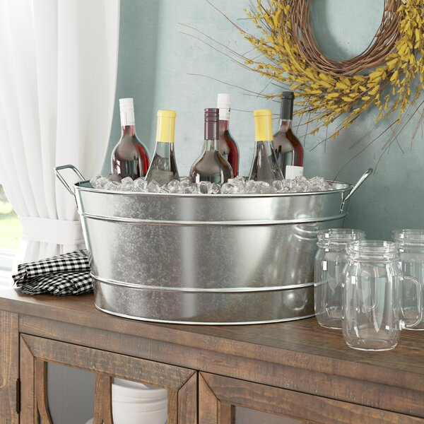 Sheringham Steel Beverage Tub by Three Posts