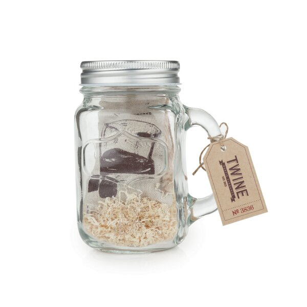 Country Home 2 Piece Mason Jar Stein and Glacier Rocks Set by Twine