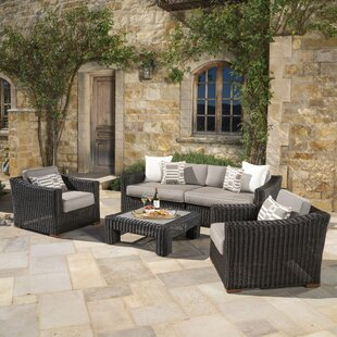 Monroeville 5 piece Sunbrella Sofa Set with Cushions ByDarby Home Co