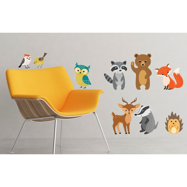 Forest Animals 9 Piece Wall Decal Set by Zoomie Kids