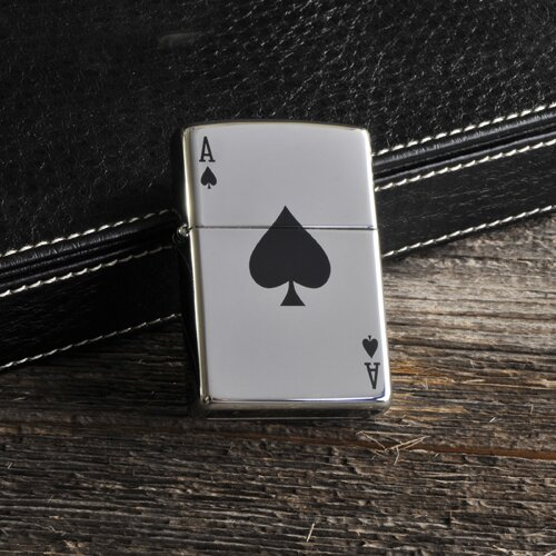 Personalized Gift Zippo Aces Lighter by JDS Personalized Gifts