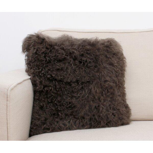 Mongolian Fur Throw Pillow by Thro by Marlo Lorenz