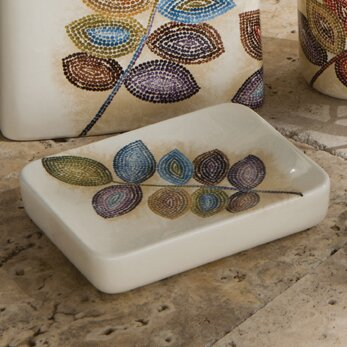 Mosaic Leaves Soap Dish by Croscill Home Fashions