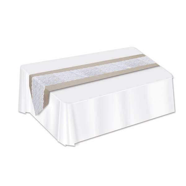 Gabler Lace and Burlap Table Runner (Set of 3) by The Holiday Aisle
