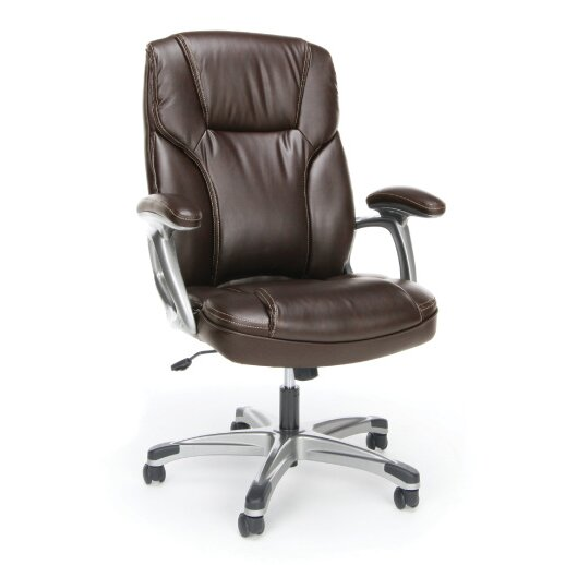 Gilliland Ergonomic Leather Executive Chair by Symple Stuff