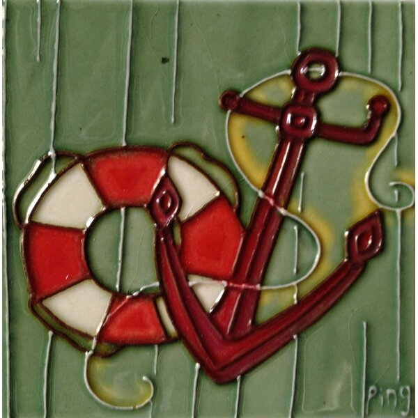 Anchor Tile Wall Decor by Continental Art Center