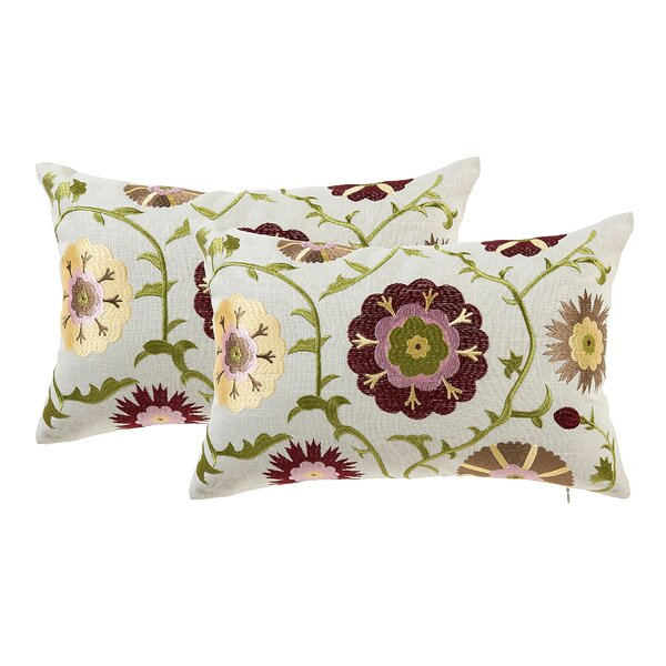Armetta Floral Lumbar Pillow by Andover Mills