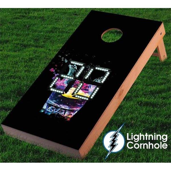 Electronic Scoring Glass Cornhole Board by Lightning Cornhole