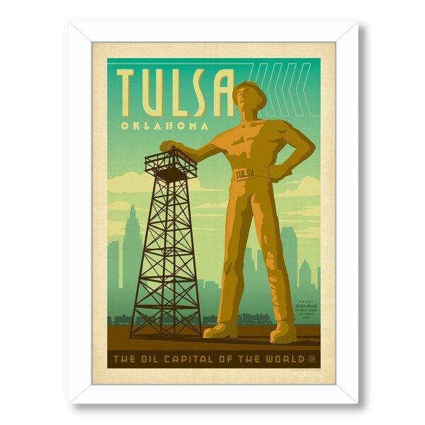 Tulsa Oilman Framed Vintage Advertisement by East Urban Home