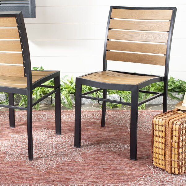 Gertrudes Stacking Patio Dining Chair (Set of 2) by Wrought Studio