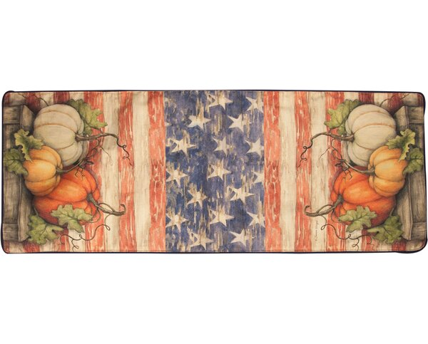 Pumpkins Farm to Table Patriotic Runner by Manual Woodworkers & Weavers