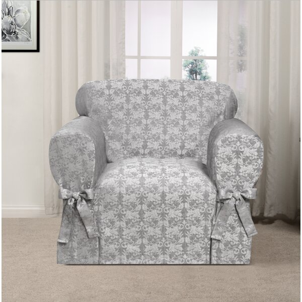 Box Cushion Armchair Slipcover By Astoria Grand Best #1