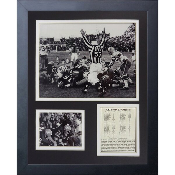 Green Bay Packers Ice Bowl The Sneak Framed Photographic Print by Legends Never Die