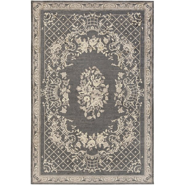 Kiger Gray Area Rug by Ophelia & Co.