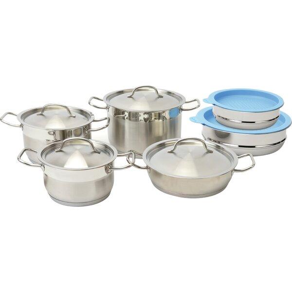 Hotel Line 12-Piece Cookware Set by BergHOFF International