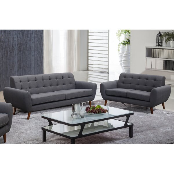Best #1 Deandre 2 Piece Living Room Set By George Oliver Spacial Price