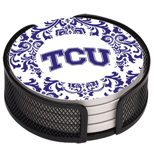5 Piece Texas Christian University Collegiate Coaster Gift Set by Thirstystone