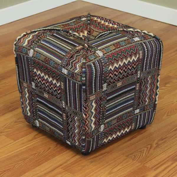 Comstock Cube Ottoman by World Menagerie