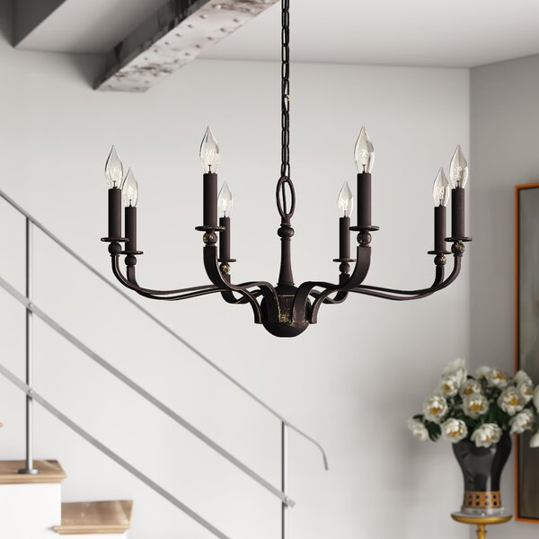 Ailani 8-Light Candle Style Classic / Traditional Chandelier By Breakwater Bay