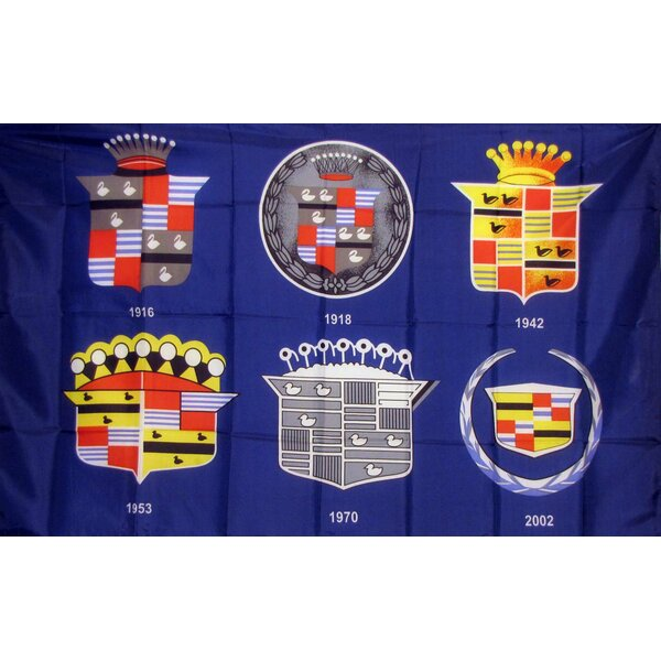 Cadillac 3 Crests Polyester 3 x 5 ft. Flag by NeoPlex